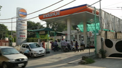 Indian Oil petrol station Stock Footage
