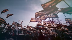The peaceful demonstration. Mass meeting - antimaydan in Moscow. Stock Footage