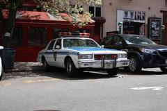 Vintage NYPD Police Car - stock photo