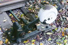 Railway switch actuator - stock photo