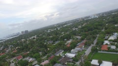 Dutch Aerial Of Waterfront Suburban Neighborhood Stock Footage