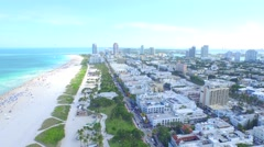 Miami Pan from City to South Beach 2 Stock Footage