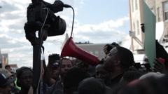 Protestors Chanting Stock Footage