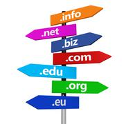 Website Internet Domain Names Signpost - stock illustration