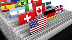 International Business Customer File Directory Stock Illustration