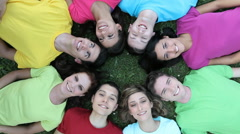 Joyful young people - stock footage