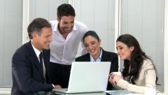 Business teamwork at office Stock Footage