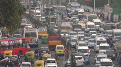 Busy rush hour traffic in Bangalore, India Stock Footage