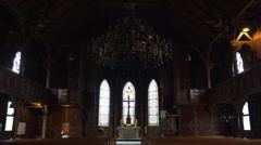 Traditional evangelic church in Harz village Braunlage Stock Footage