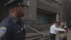 Cop Standing Stock Footage