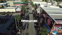 Bike week motorcycle sturgis rally boogie aerial B Stock Footage