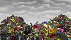 The Great Garbage Dump. 3D animation, seamless loop. Stock Footage