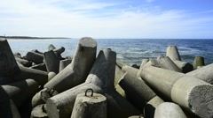 Baltic Sea in Poland, Ustka Stock Footage