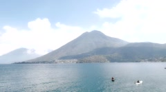 Fisherman in Lake Atitlan Stock Footage