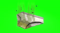 Dirty smelly Underpants. 3D animation in cartoon style. Green screen, loopable. Stock Footage