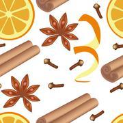 spice seamless pattern - stock illustration