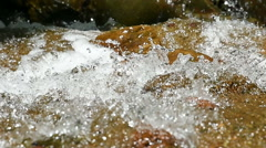 Water and stone in the natural Stock Footage