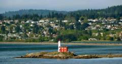 4K Fisgard Lighthouse National Historic Site, Victoria, British Columbia Stock Footage