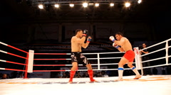 MMA Championship of Siberia among professionals. Stock Footage