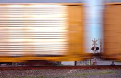 Railcars Detroit - stock photo