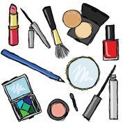 Stock Illustration of cosmetics