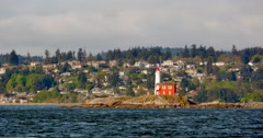 4K Fisgard Lighthouse National Historic Site Stock Footage