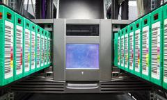 Streamer, tape library for data backup Stock Photos