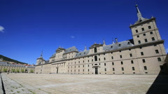 Royal Monastery of San Lorenzo de El Escorial near Madrid, Spain Stock Footage