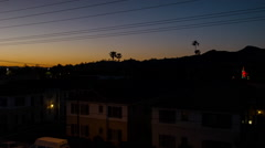Los Angeles Time Lapse Sunrise, city & valley with mountains - stock footage