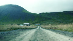 Dirty Road in ICELAND  Stock Footage