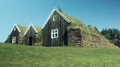 Nature Houses in ICELAND  Stock Footage