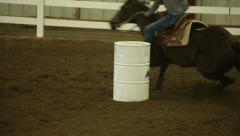 Male Rider Barrel Racing Stock Footage