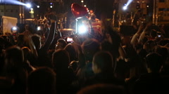 Crowd dancing on the concert (new series +10) Stock Footage