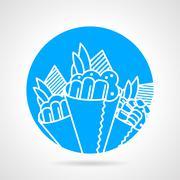Temaki blue round vector icon Stock Illustration