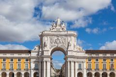 Commerce square - Praca do commercio in Lisbon - Portugal - stock photo