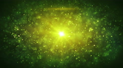 Green particles blizzard loopable animation 4k (4096x2304) Stock Footage