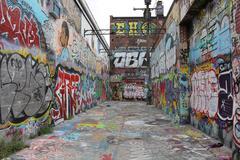 Grafitti Alley - stock photo