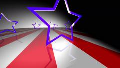 4k presidential political campaign graphic shining star background Stock Footage