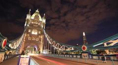 Day to Night Tower Bridge 4K Timelapse - stock footage
