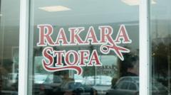 Barbershop in AKUREYRI, ICELAND - CIRCA AUGUST, 2014 Stock Footage