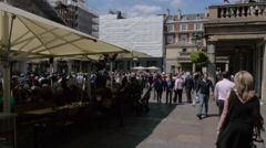 Crowds at Covent Garden in central London Stock Footage