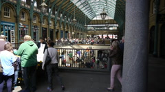 Covent Garden indoor market pavilion in central London Stock Footage