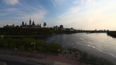 Canada's Parliament Buildings seen from Alexandra Pont Stock Footage