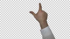Business Man Hand Gesture Shrink Screen Stock Footage