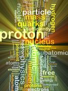 Proton background concept glowing - stock illustration