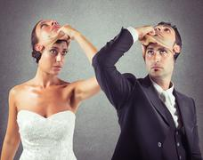Liar marriage - stock photo