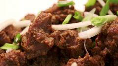 Roasted lamb meat in spices. From a series of Food Korean cuisine. Stock Footage
