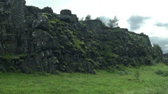 Moss Covered Stone  in ICELAND  Stock Footage