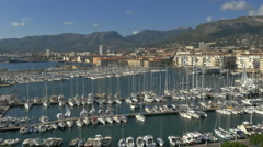 High view - marina Toulon France boats pulling in - 4K UHD 0809 Stock Footage