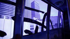 Modern Monorail Train in Las Vegas Stock Video Stock Footage